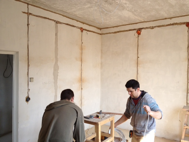 The new office upstairs construction has begun.  It will have room for 3 computer stations.