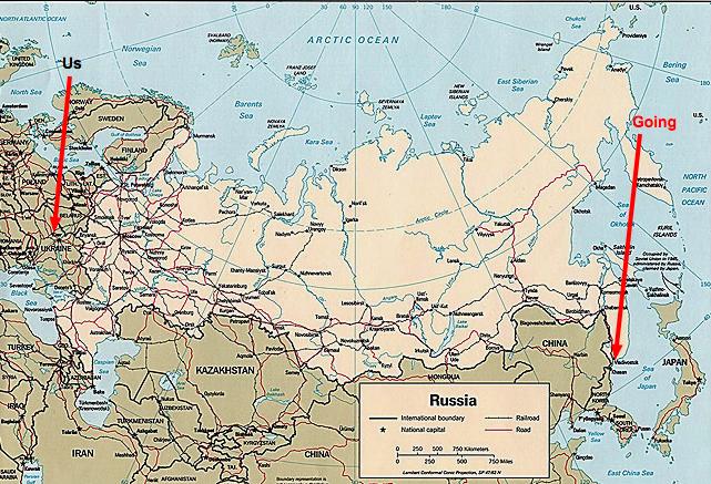 We're going to Far, Far, Far East Russia.