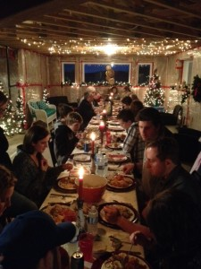 Christmas Turkey Dinner (this is about 1/2 of our family...)