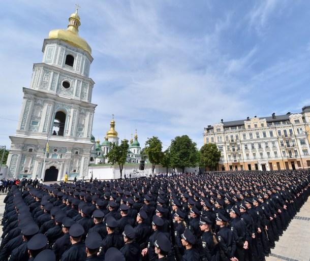 UKRAINE-POLICE-GRADUATION