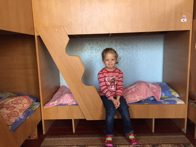 Abbey showing me her nap bed at school. She's growing up so quickly and handles her own with the boys 'like a boss'.