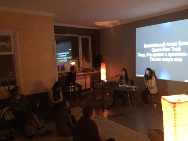 Our last worship night a few weeks ago. We tried it on a Saturday night, not as many came, but God was exalted. We were able to pray with Vova just before his surgery, which was a success!