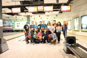 Two weeks ago we took a small group bowling - only 2 students had ever tried it before :)