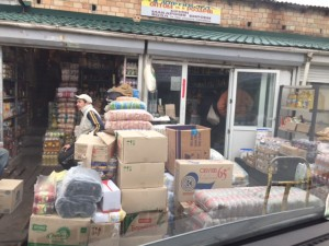 Typical bulk food shop. We bought 2 months of food today for 25 Widows in our town.