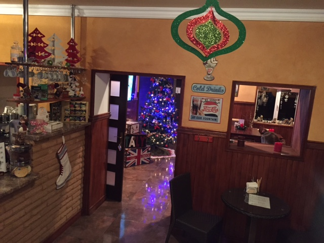 This week Deb and the girls decorated the Cafe for Christmas - we got our first snowfall within hours :)