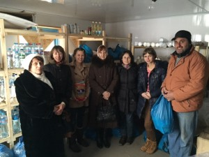 Some of the volunteers from Rzhyschiv local churches serving with the Widows program.