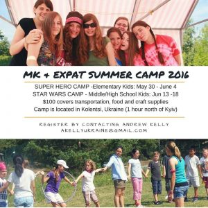 This advert for summer camp has Bronwyn in it from several years ago.. can you spot her!?  If you are from Ukraine and want to send your teen child, it's next week and still room!