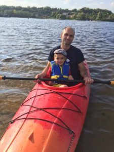 Enjoyed some Kayaking yesterday with Tom and his kids - and Vlad with his son Matthew joined - it's been a rough season for their family - was nice to see father & son happy.