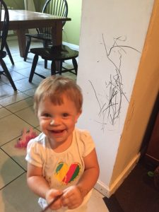She was quite proud of her art. We are more like grandparents now and just laugh with her.