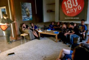 Last night we started back up Club 180 - so great to have Josh Neibert here with us as well, he shared a couple songs.