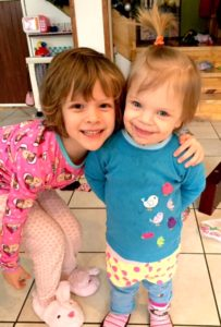 These sweeties can't wait to see their sister come home.. they probably won't remember their brother.