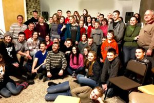Last weekend worship and prayer, almost all young people from surrounding villages.