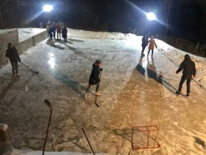 The ice rink has been used the most ever this year as weather has stayed under 0 all winter.